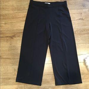 CAbi Navy Wide Leg Dress Pants